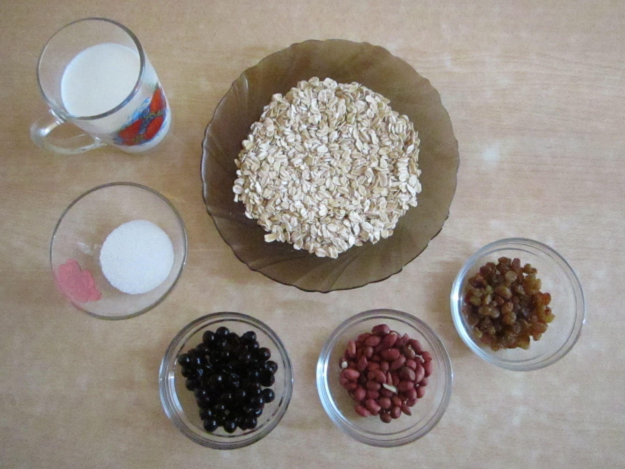 Домашние мюсли ингредиенты