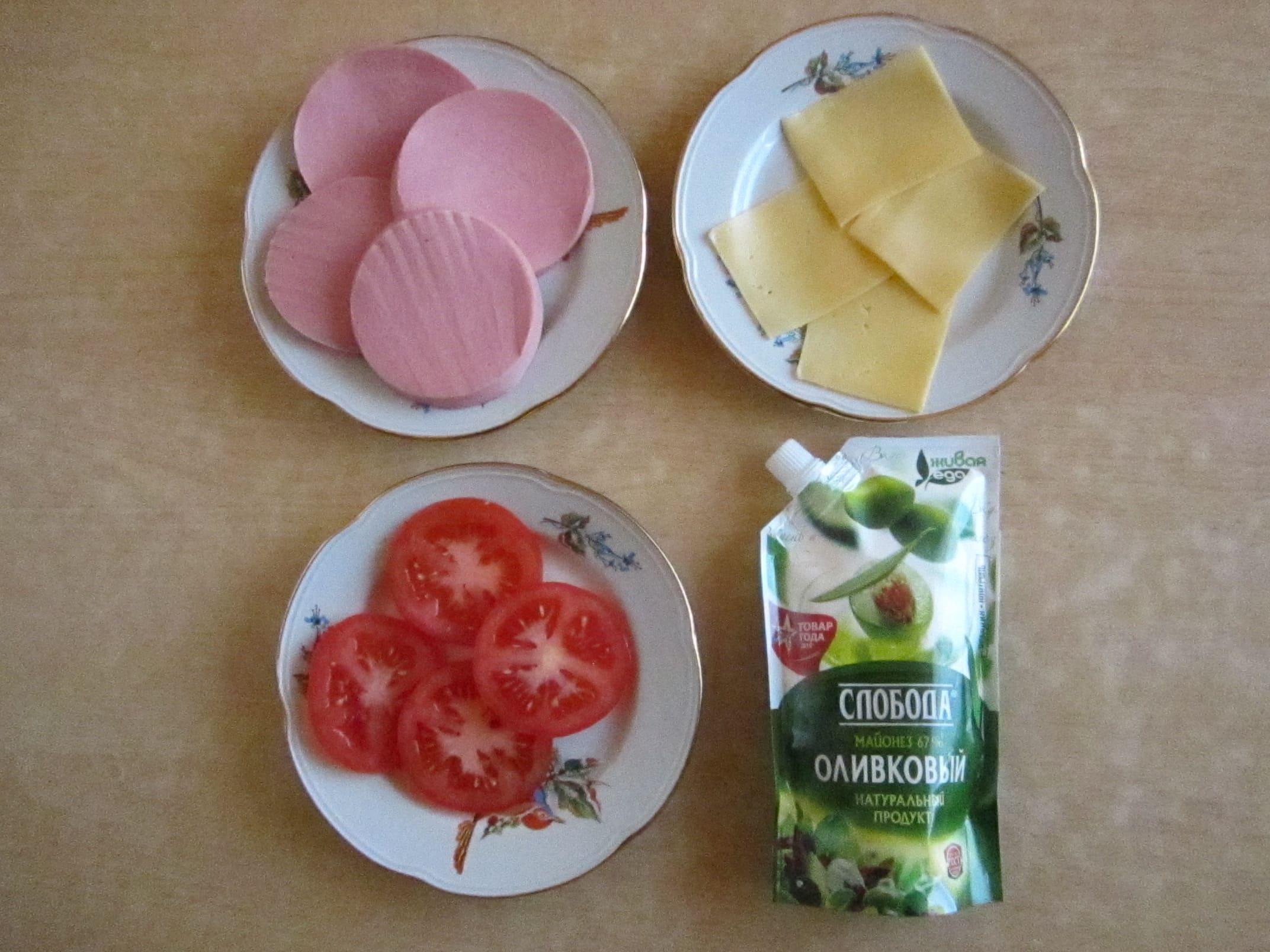Ингредиенты для горячих бутербродов