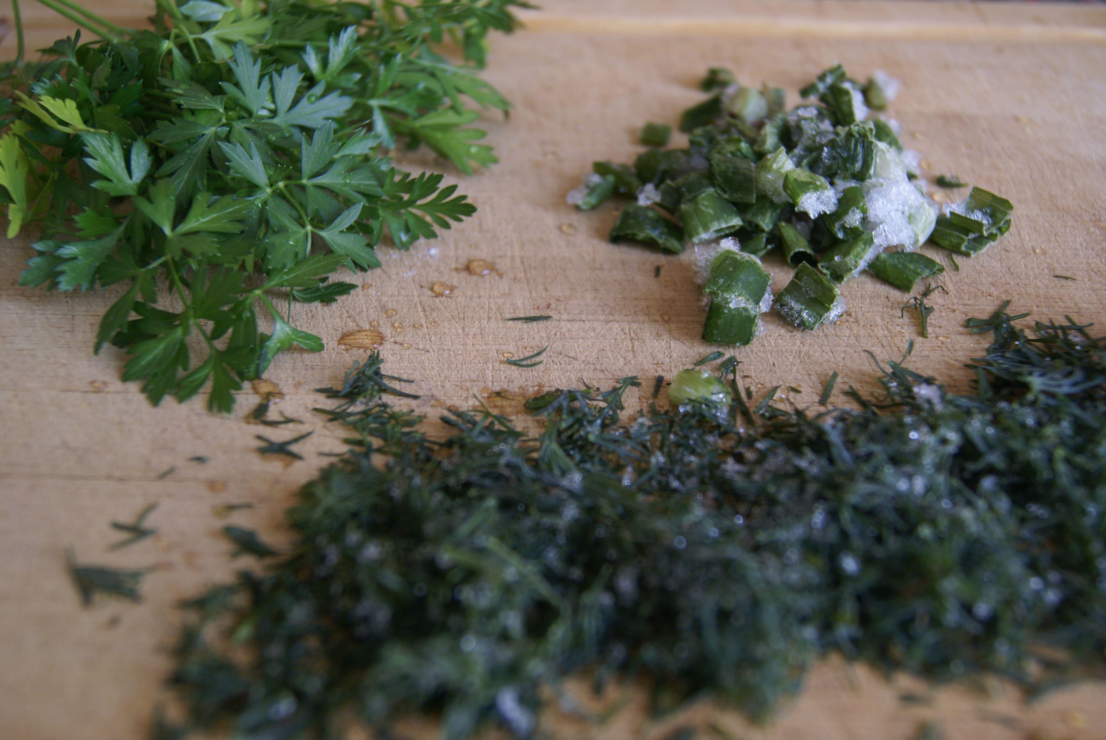 Зелень котлет из гречки