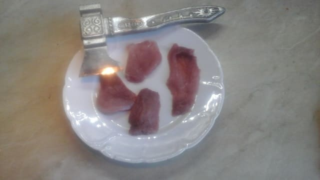 Мясо для мясных рулетиков с грибами