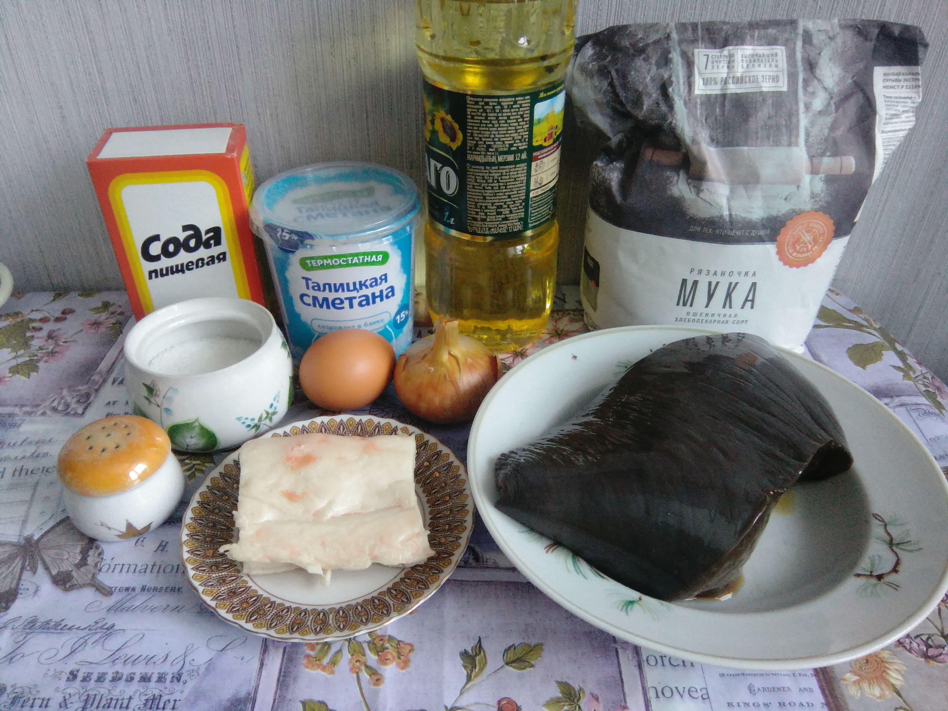 Ингредиенты для оладий из печени