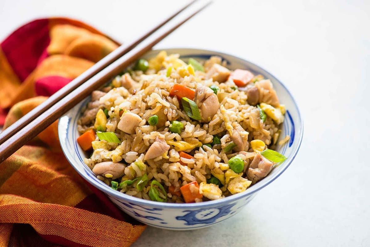 Рис с курицей и горохом