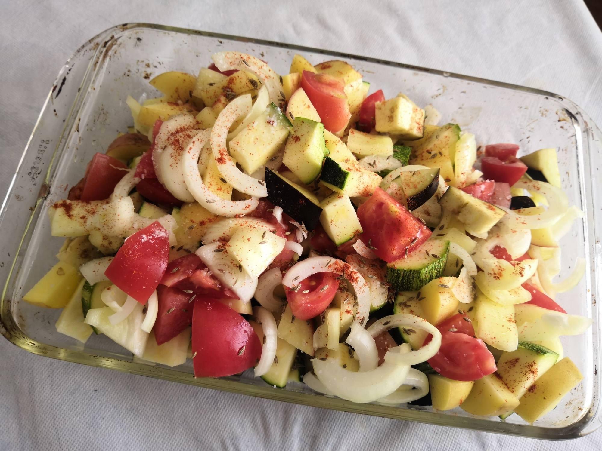 Овощи с приправами