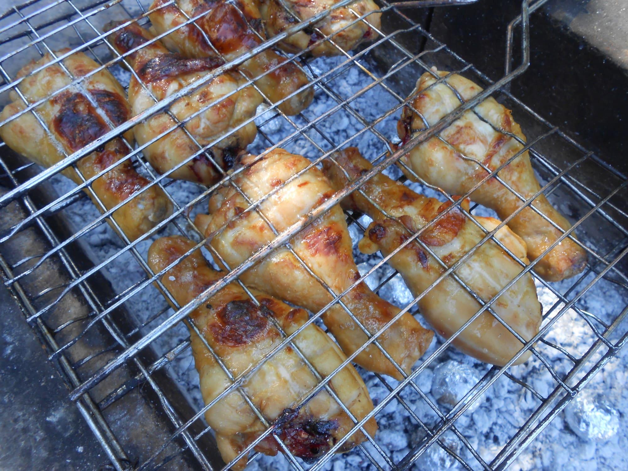 Куриные голени на гриле