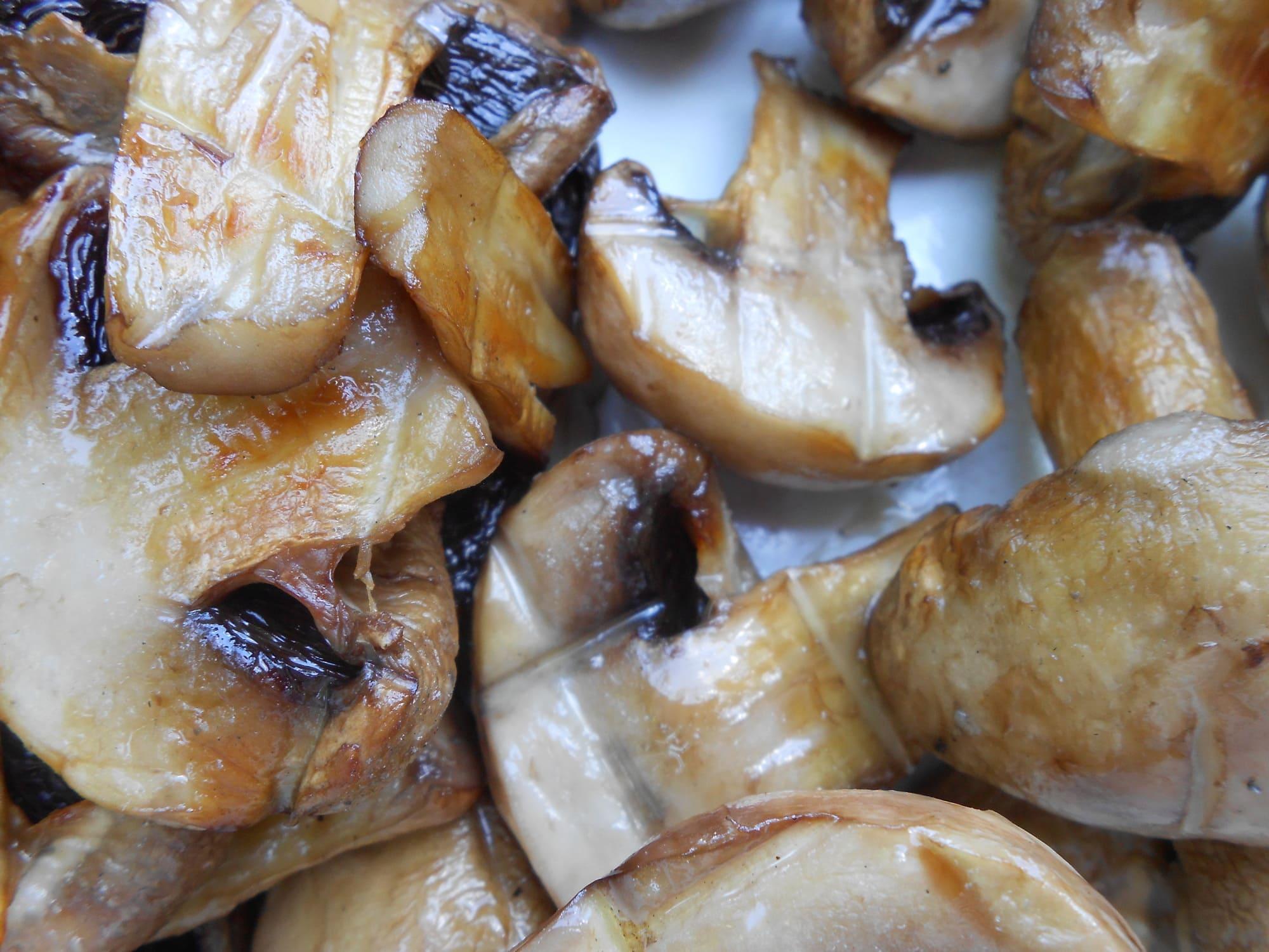 Грибы шампиньоны гриль