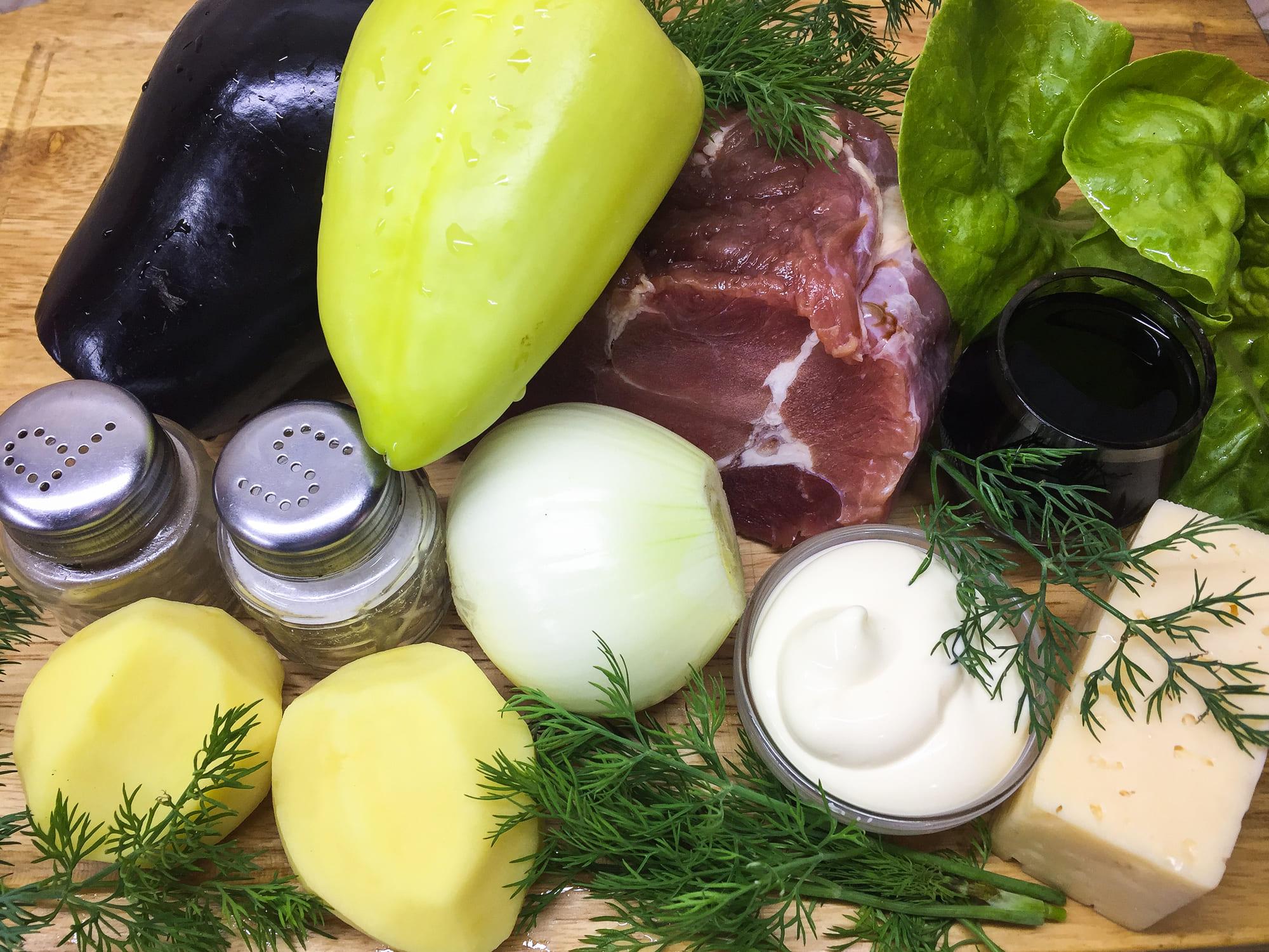 Ингредиенты для запеченного мяса