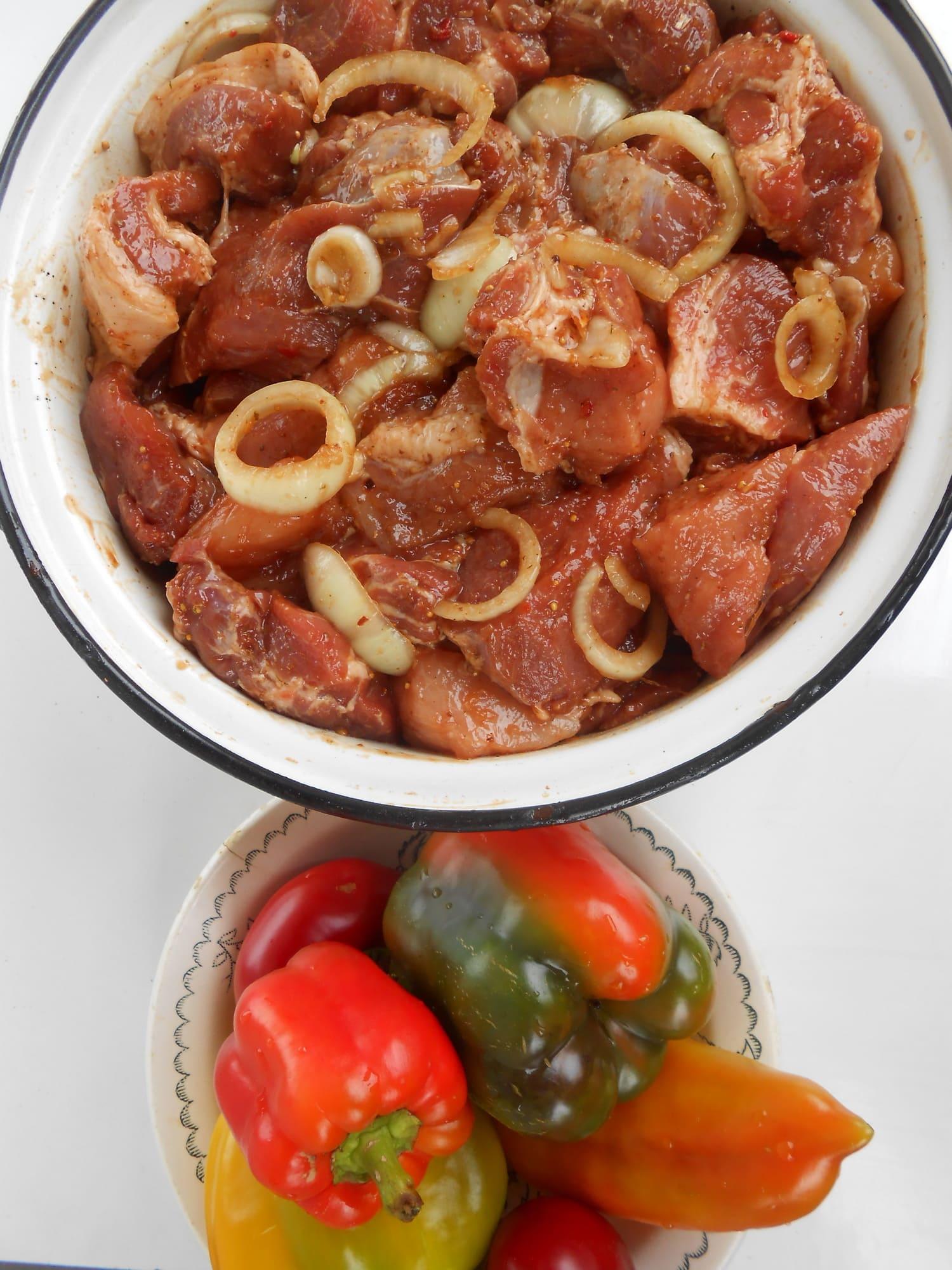 Маринад для шашлыка и перец