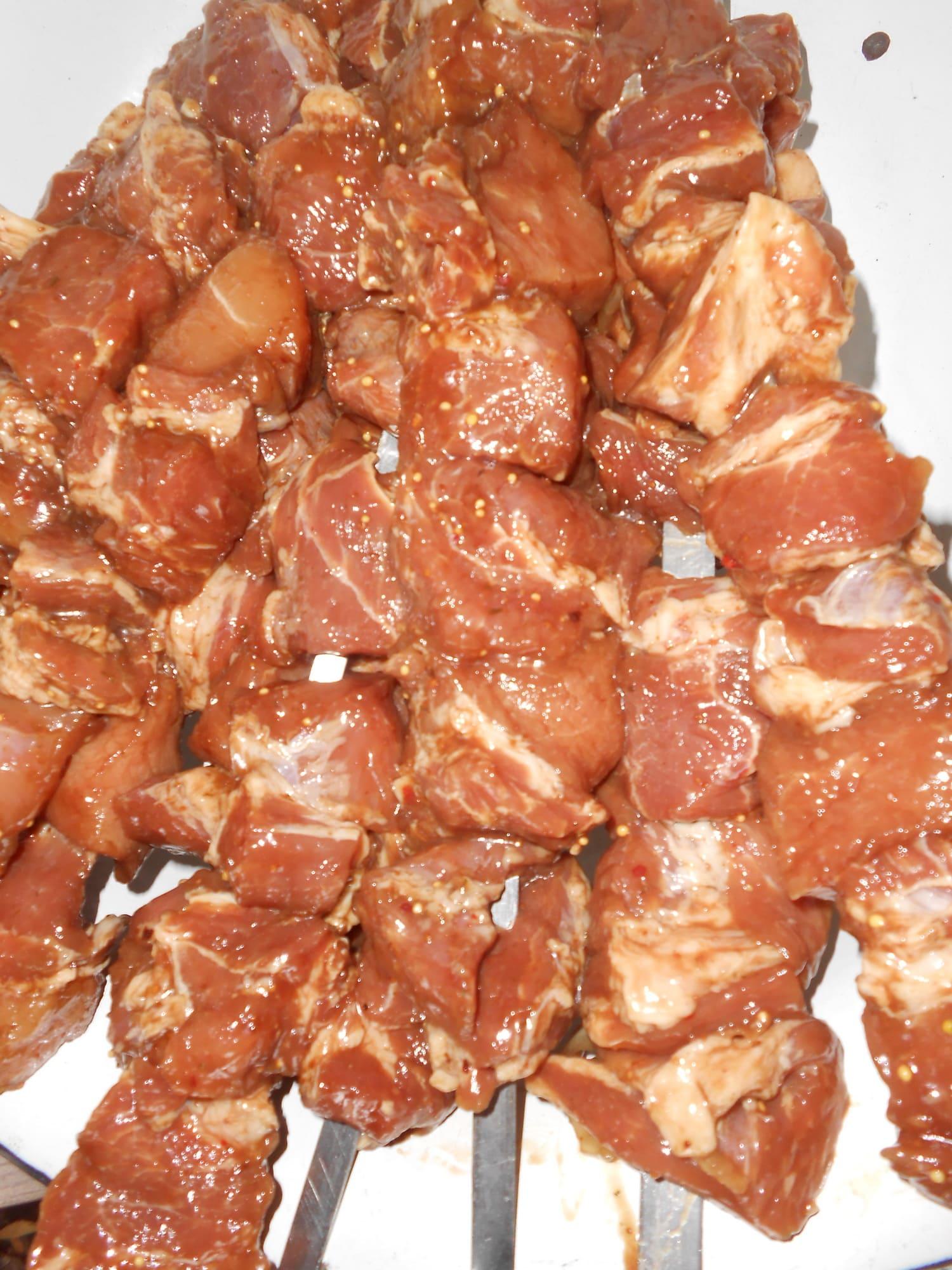 Мясо для шашлыка в маринаде