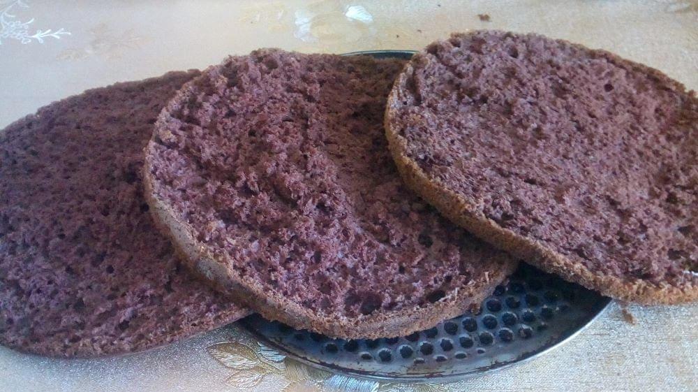 Приготовление шоколадно-кофейного торта