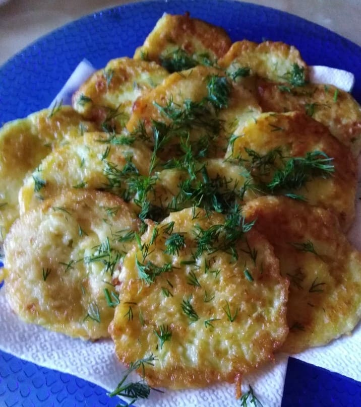 Оладьи из кабачков на завтрак